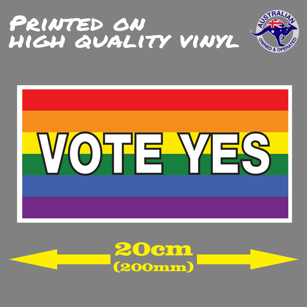 Details about vote yes one love gay rights rainbow same sex marriage equality car sticker