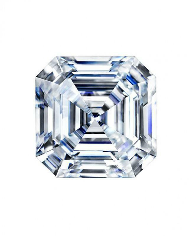 2 21 Ct Forever One Moissanite Loose Stone Asscher Cut 8mm