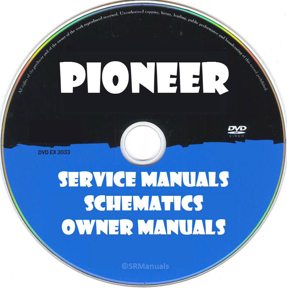 Pioneer Audio Hifi Service Manuals Pdfs On Dvd Huge Collection Avh P4000dvd Manual More Than 1500 Ebay