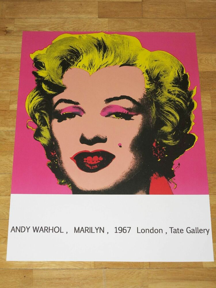 Andy warhol poster marilyn monroe 1967 london exhibition for Ricerca su andy warhol