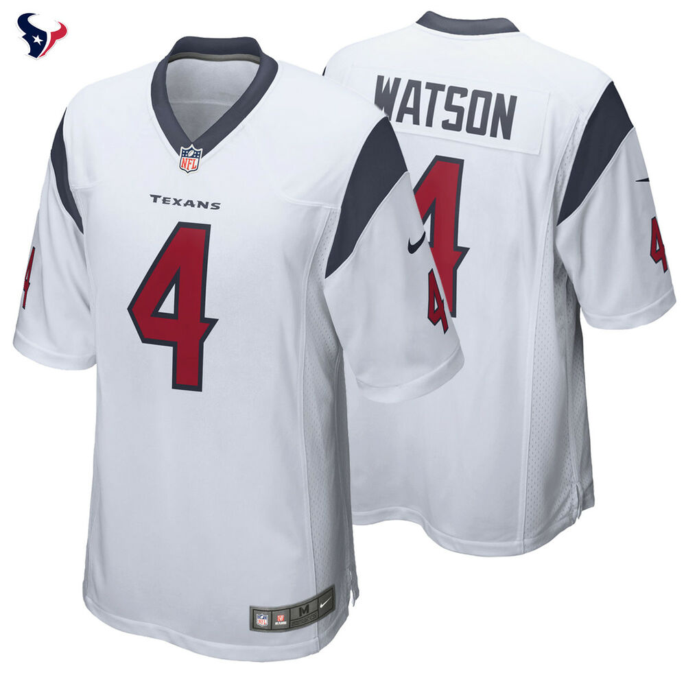 4535b1717 Authentic Nike NFL Deshaun Watson  4 Houston Texans Jersey 2017 Draft Pick  Game