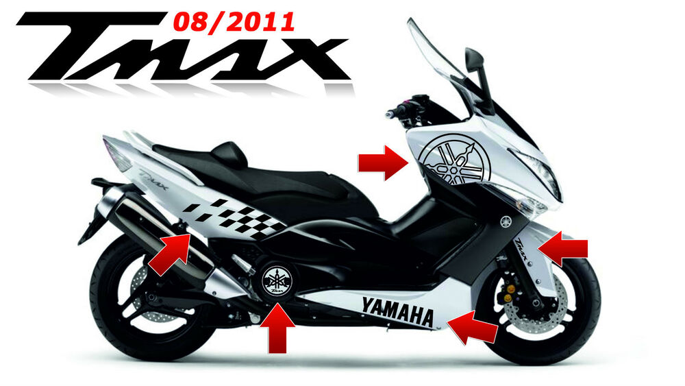 kit adesivi scooter yamaha tmax t max t max 2011 500 stickers moto racing tuning ebay. Black Bedroom Furniture Sets. Home Design Ideas