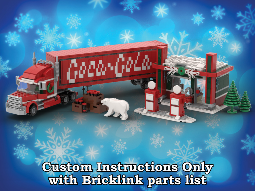 Lego Winter Village Coca Cola Truck Instructions Only For Lego