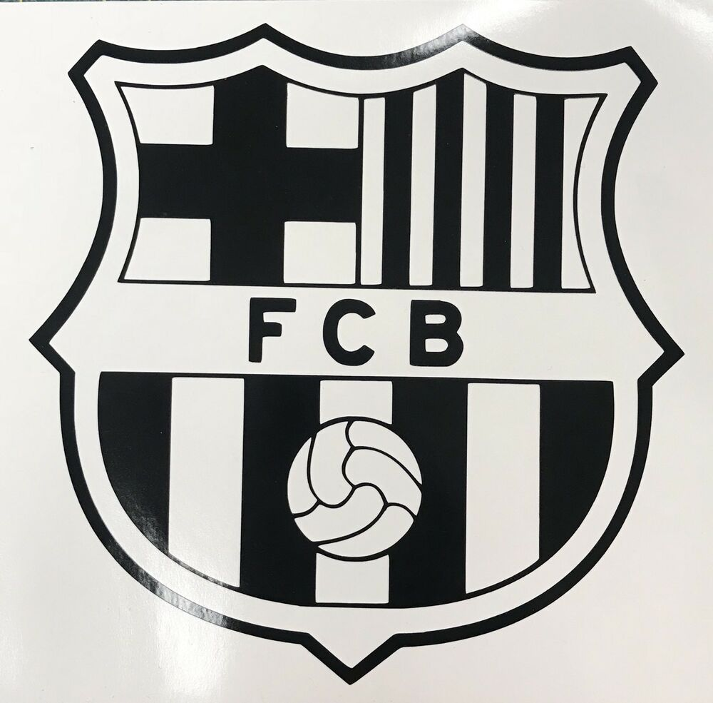fc barcelona logo soccer football car window truck laptop