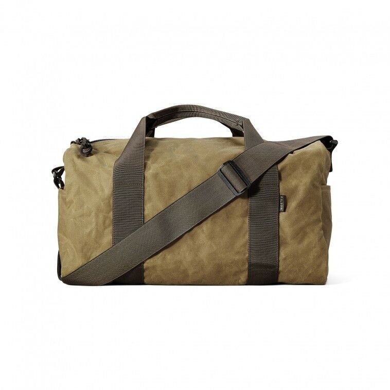 b7e7bde206 Details about Filson Field Duffle Bag Small 70110 Oil finish Tin Cloth Dark  Tan Brown 11070110