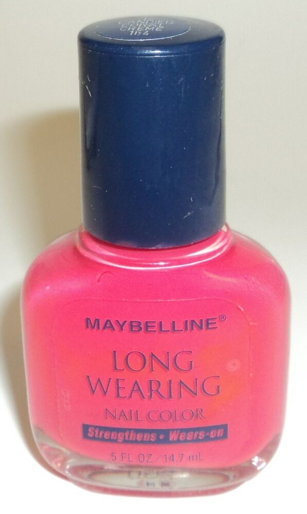 Maybelline Long Wearing Nail Color Nail Polish CANDIED CORAL CREME ...