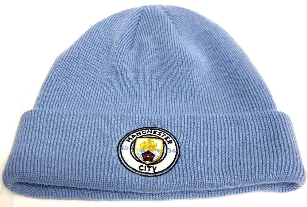 87b87ae33c1 Details about Manchester City Hat Bronx Sky Blue knitted Hat official  Football Club Gifts