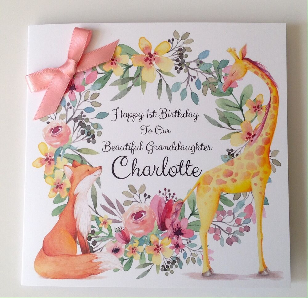 Details About Personalised Fox 1st Birthday Card Daughter Granddaughter Niece 2nd 3rd 4th 5th