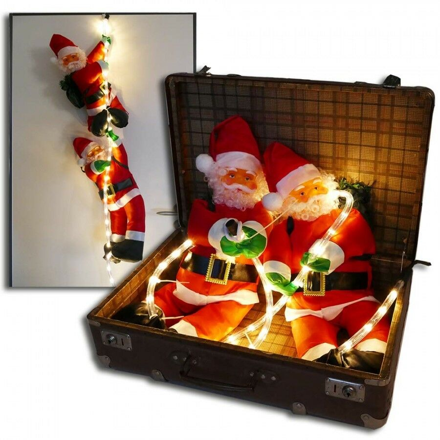weihnachtsmann figuren led lichtschlauch beleuchtet deko weihnachten innen au en ebay. Black Bedroom Furniture Sets. Home Design Ideas