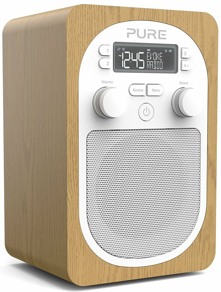 pure evoke h2 portable dab digital fm radio oak ebay. Black Bedroom Furniture Sets. Home Design Ideas