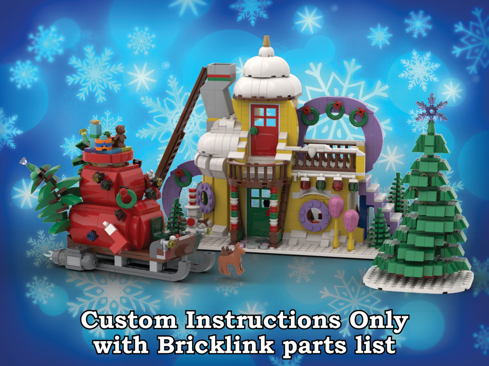 Winter Village Whoville Custom Instructions Only For Lego Bricks