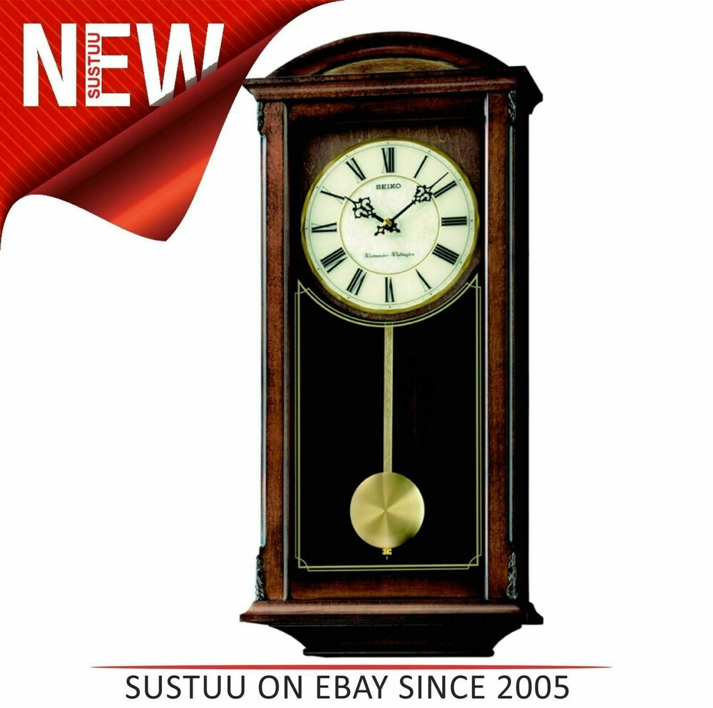 Seiko Analogue Pendulum Wall Clock│westminster