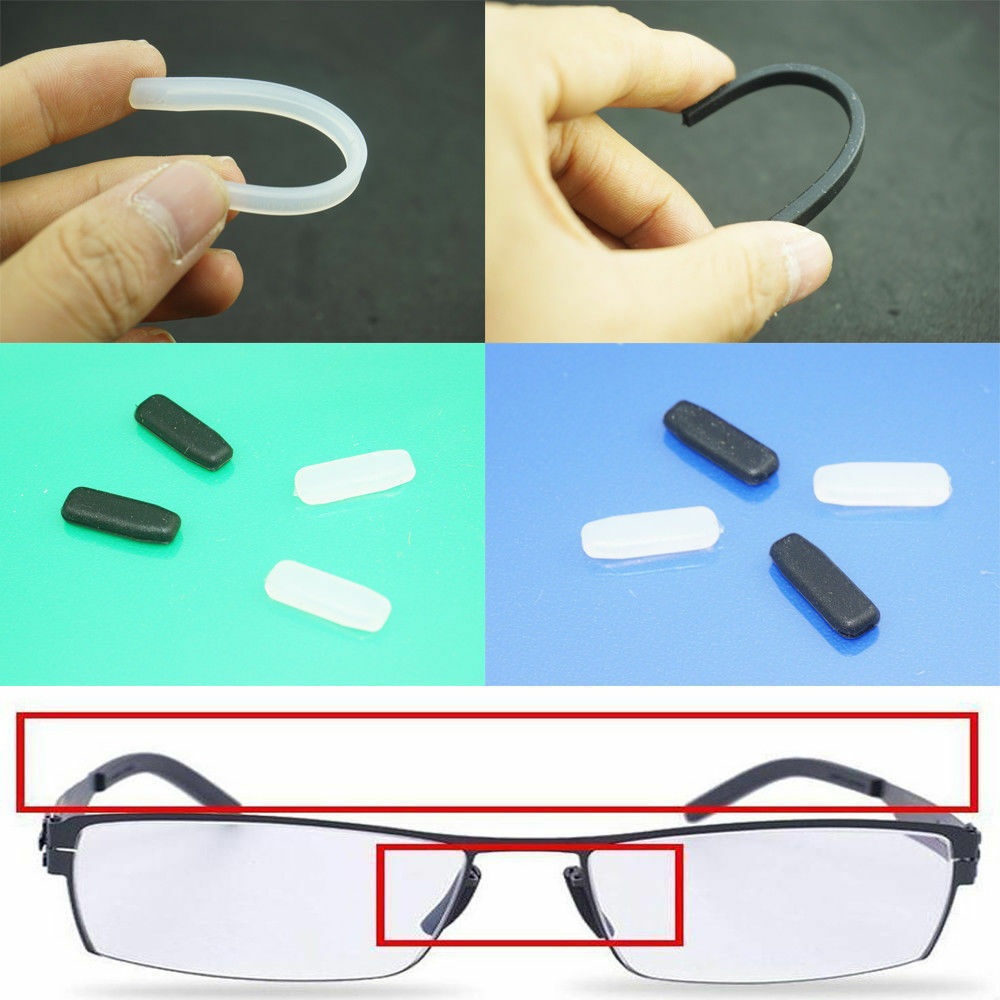 e5ca38964f Details about Replacement Nose Pads for ic! Berlin Glasses Sunglasses Snap  In Push On Silicone