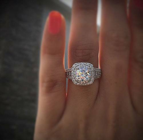 Certified 2 25 Ct Round Diamond Double Halo Engagement