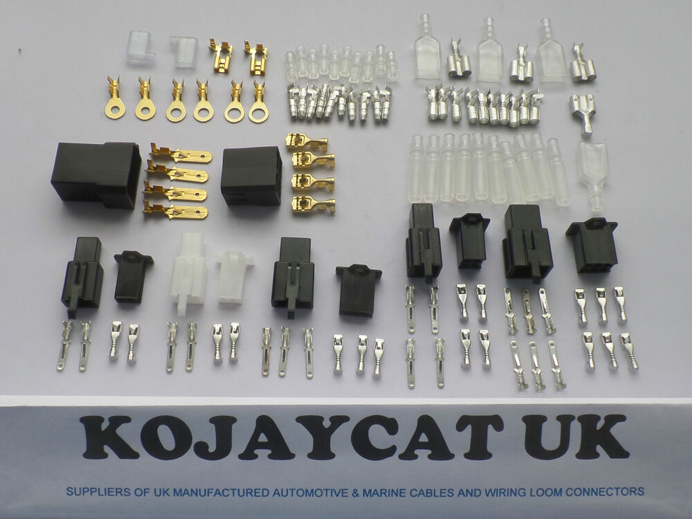 Motorcycle wiring harness loom connector repair kit honda