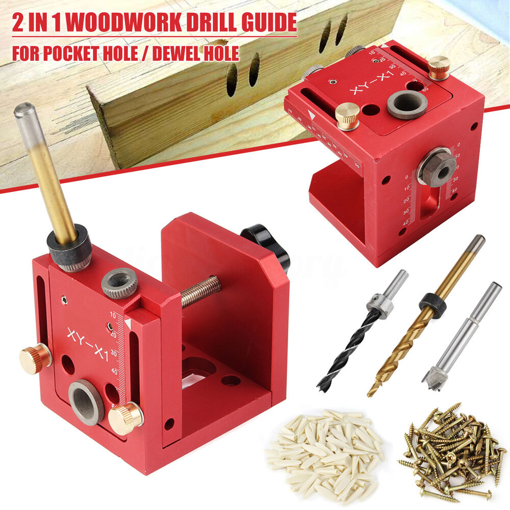 Pocket Hole Jig Dowelling Drill Guide DIY Woodworking ...