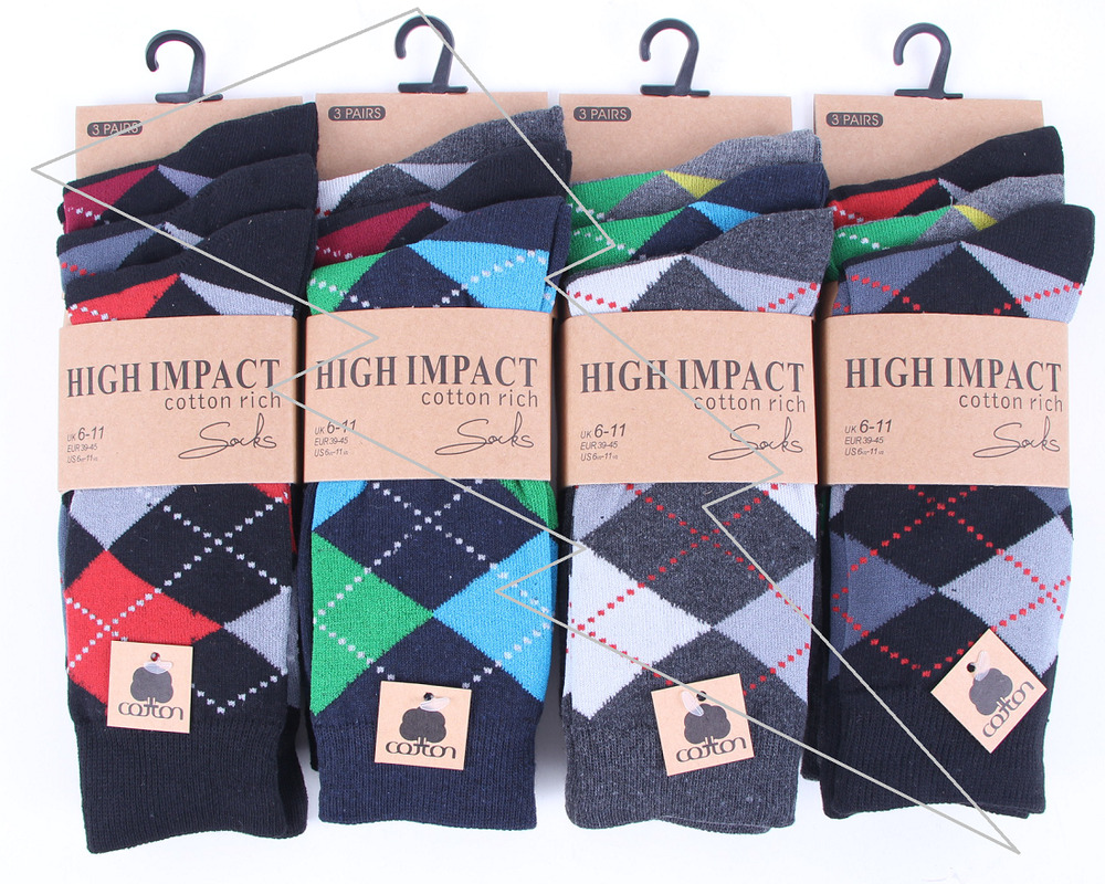 1df6369b7 Details about Mens 6 Or 12 Pairs Argyle Socks Check Diamond Suit Golf  Cotton Rich Adults Lot