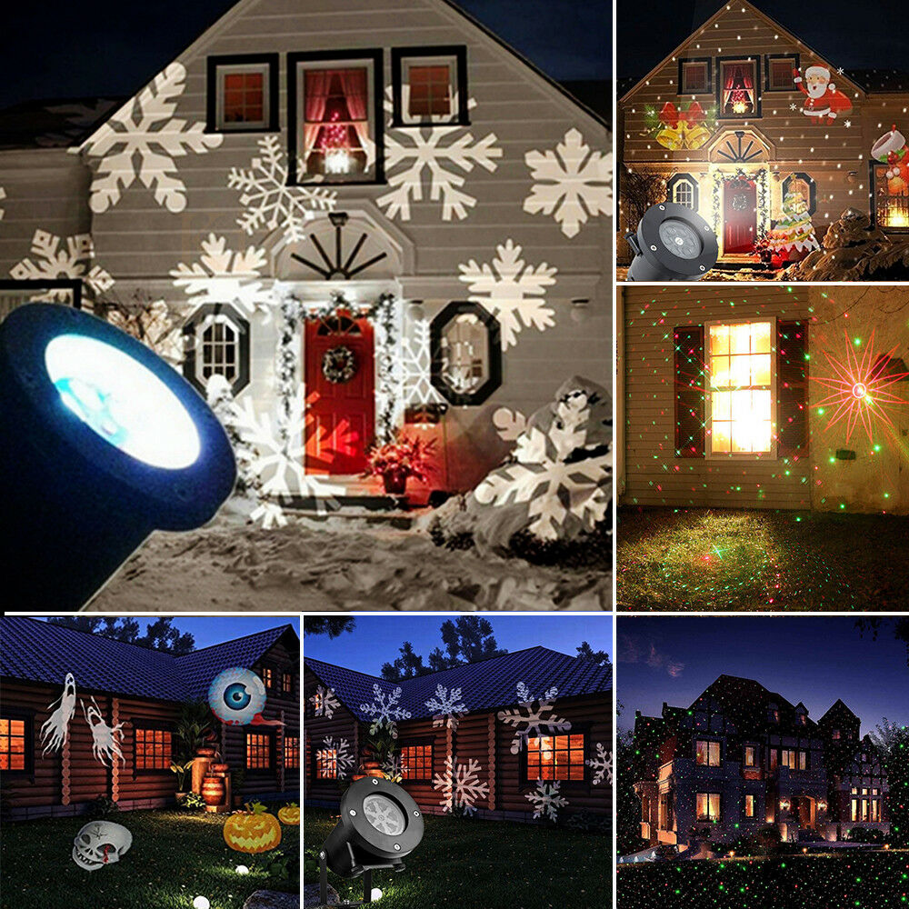 xmas light projector outdoor garden light snowflake led laser 10841