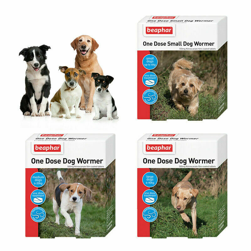 Beaphar One Dose Wormer Worming Roundworm Tapeworm Dog Puppy