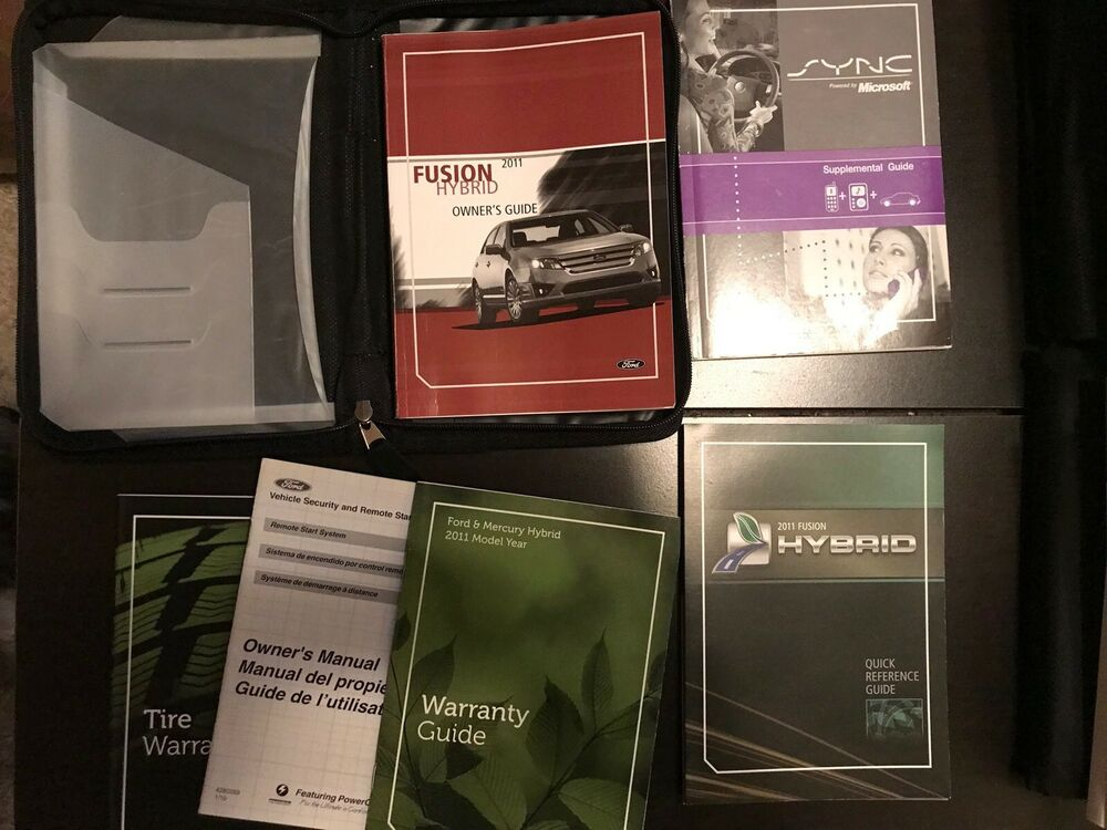 ford fusion hybrid owners manual  case oem