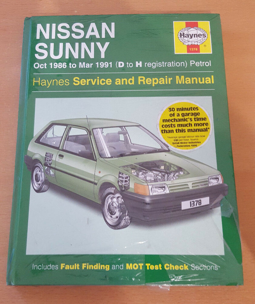 1378 Nissan Sunny 1986 to 1991 Petrol Haynes Service and Repair Manual |  eBay