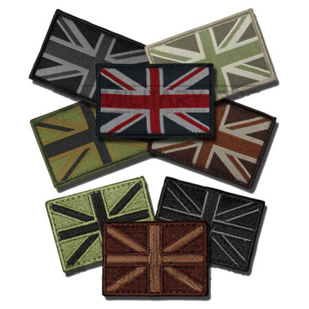 img-UNION JACK FLAG PATCH HOOK AND LOOP SUBDUED MILITARY UNIFORM TYPE BRITISH