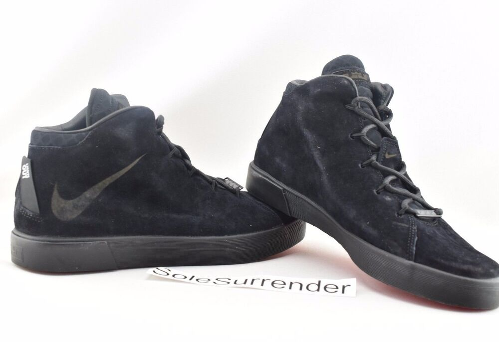 a5311caeb670 Details about Nike Lebron XII NSW Lifestyle QS - CHOOSE SIZE- 716417-002 12  Black Red Suede LS