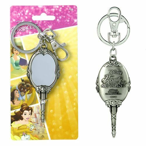 Disney Beauty & The Beast Magic Mirror Pewter Key Chain