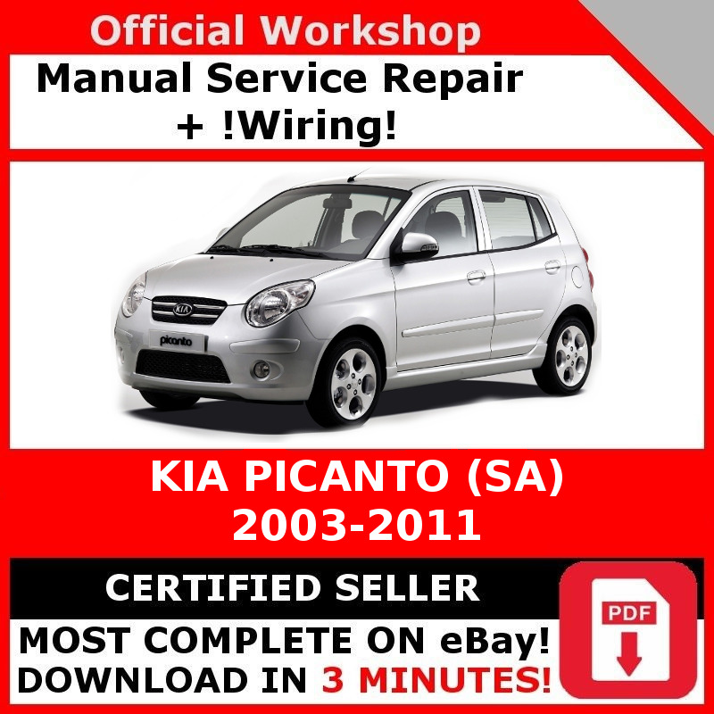 Dorable pdf electrical wiring diagram picanto gallery everything factory workshop service repair manual kia picanto sa 2003 2011 ebay asfbconference2016 Choice Image