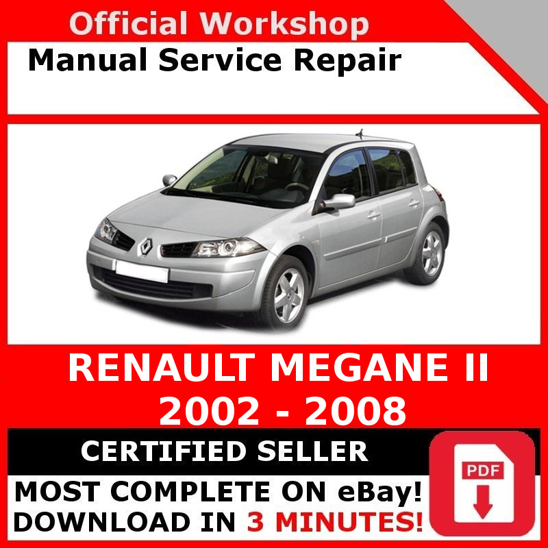 factory workshop service repair manual renault megane ii 2002 2008 ebay. Black Bedroom Furniture Sets. Home Design Ideas