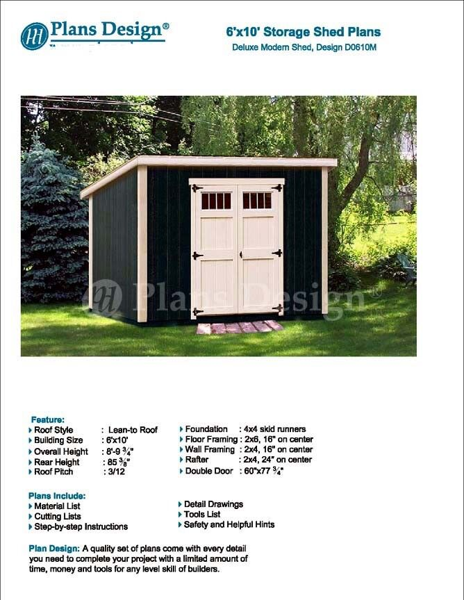 6' x 10' Deluxe Shed Plans, Modern Roof Style Design # D0610M ... Mobile Home Building Plans Step on mobile trailer home for wood deck, mobile home step ideas, mobile home roof plans, mobile home skirting plans, mobile home deck plans, mobile home kitchen plans, mobile home construction plans, mobile home decorating, mobile home stairs, mobile home plumbing plans, mobile home designs, mobile home garages plans, mobile home foundation plans, mobile home porches decks ideas,