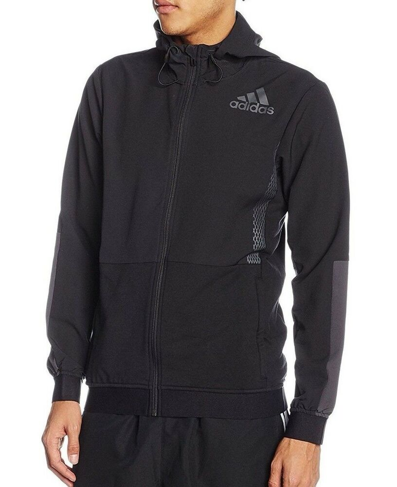 a9f8d4f83773 Details about Mens New Adidas Zip Hoodie Hoody Track Jacket Tracksuit Top  Sports Coat - Black