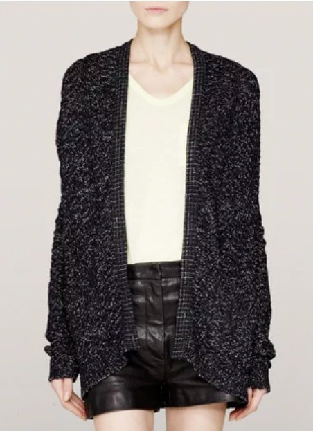 4c8d702e3eede5 Details about THEYSKENS THEORY KLYM CHUNKY-KNIT CARDIGAN S $395 Button  Front Boyfriend Sweater