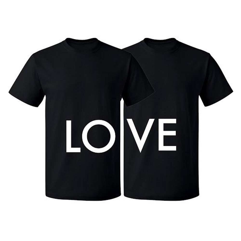 Couple Matching T Shirt Love Tshirt Lo Ve Valentines Day