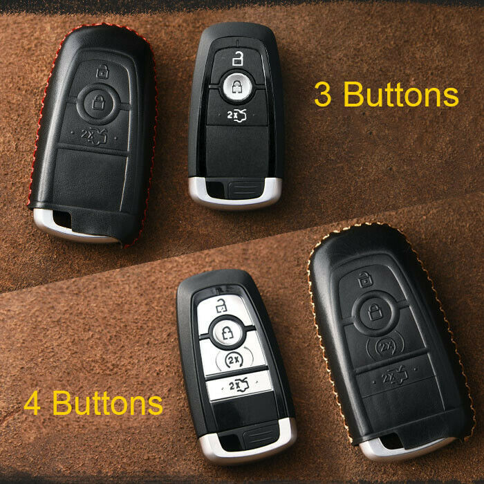 real leather remote key fob case cover    ford edge      ebay