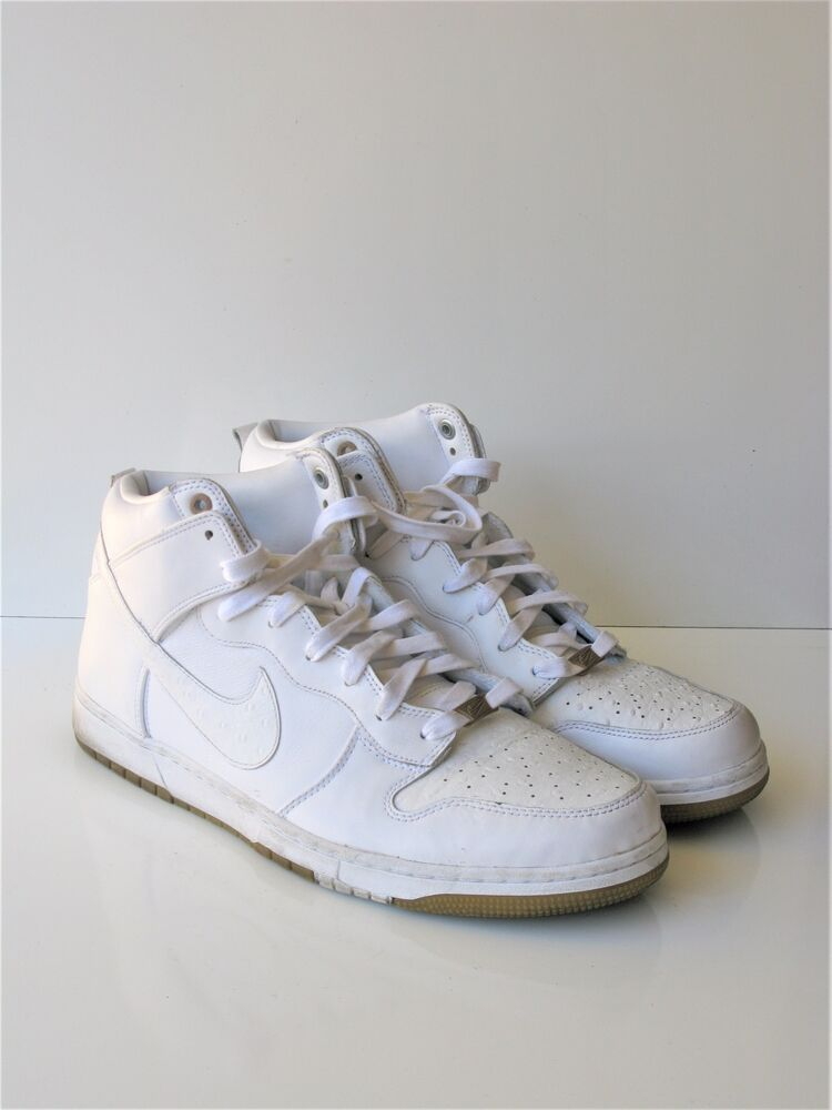 Basketball Shoes Nike Dunk CMFT Prm Qs White/White Athletic Sneakers 14 0