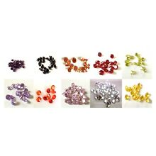 CUBIC ZIRCONIA Multi Color CZ lots 1 - 5mm Round CZ Stones IF Wholesale -AAA-USA