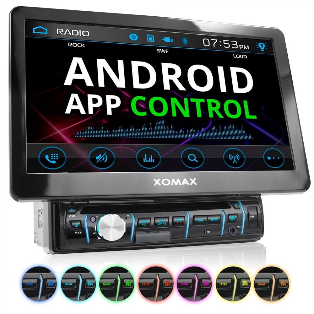 1din android autoradio mit app 10 25cm touchscreen. Black Bedroom Furniture Sets. Home Design Ideas