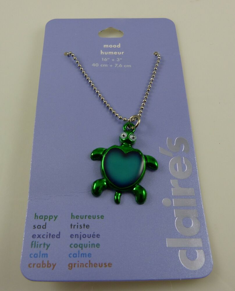 Turtle mood necklace silver tone claires 16 in chain honu stocking turtle mood necklace silver tone claires 16 in chain honu stocking stuffer gift ebay geenschuldenfo Image collections