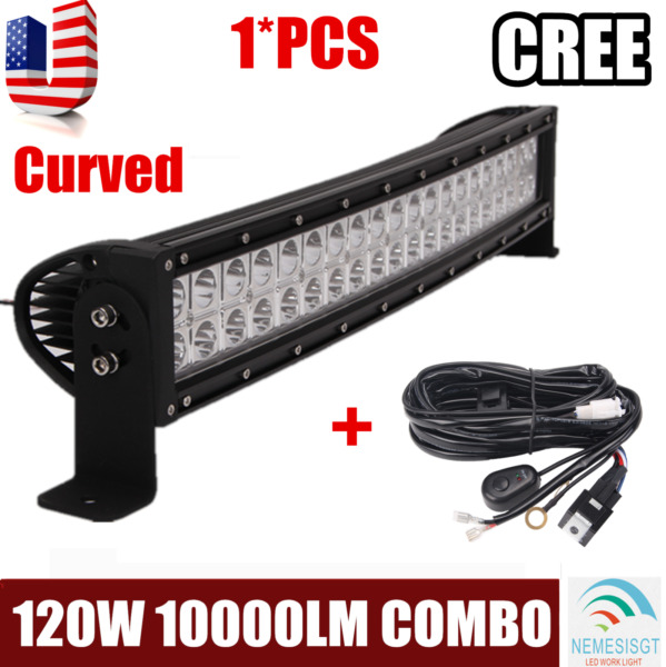 PHILIPS 22inch 120W COMBO LED Light Bar Offroad Driving 4WD ATV Boat+Wiring Kit