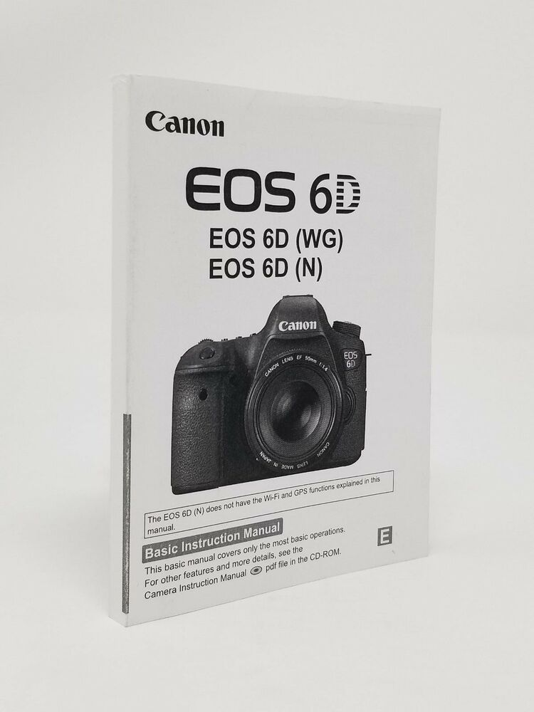 Canon Eos 6d Slr Camera Instruction Owners Manual Book New