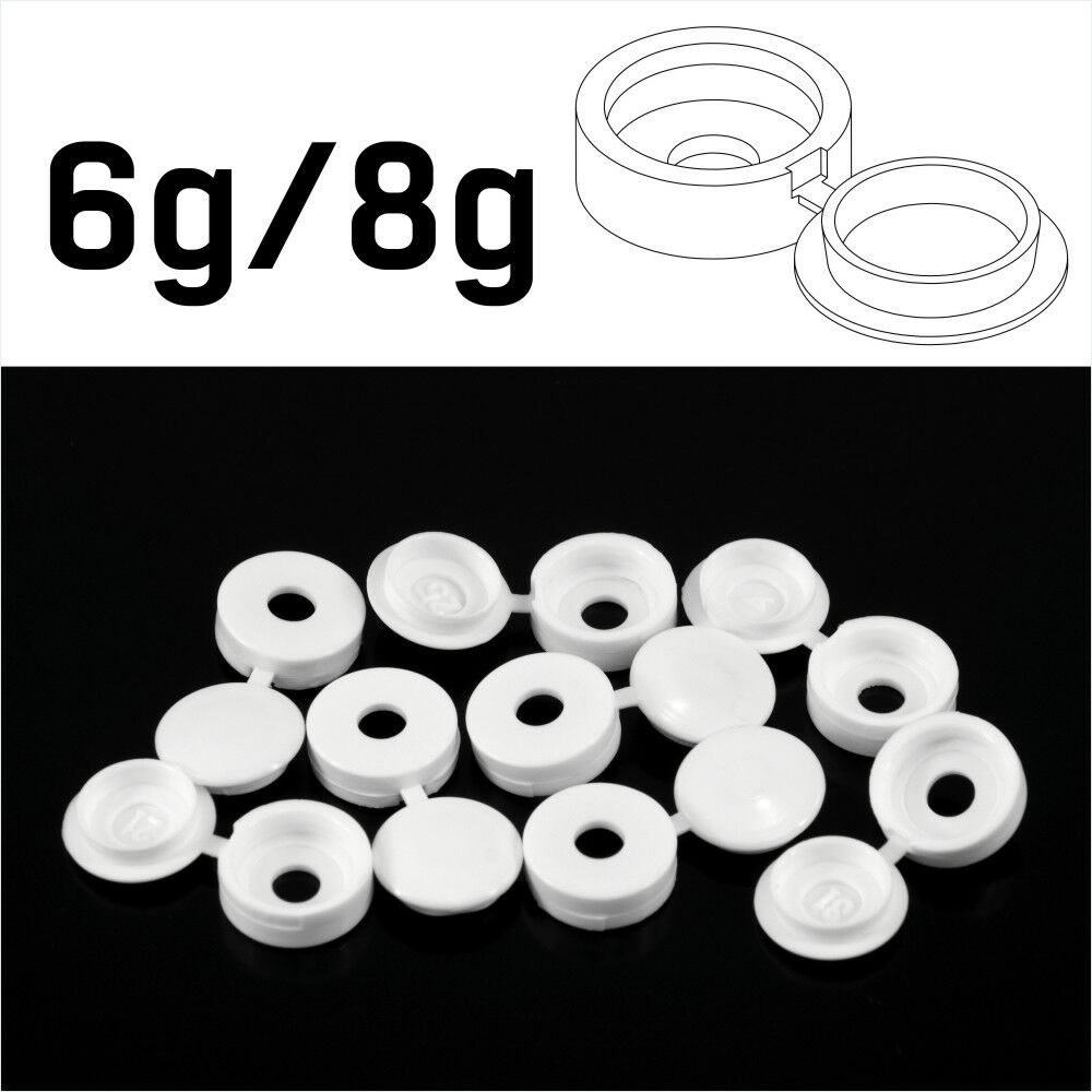 BEIGE PLASTIC FOLD OVER HINGED SCREW COVER CAPS PACKS 10 TO 10,000 SMALL 6G 8G