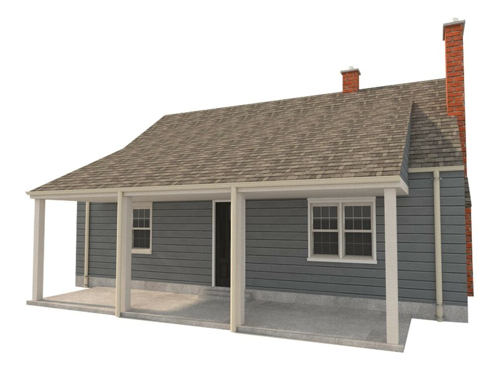 3 Bedroom House Plans DIY Two Story Home Building 832 Sq