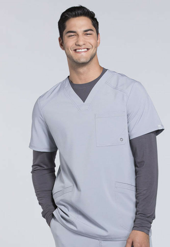 d9abe25550d Details about Grey Cherokee Scrubs Infinity Mens V Neck Top CK900A GRY  Antimicrobial