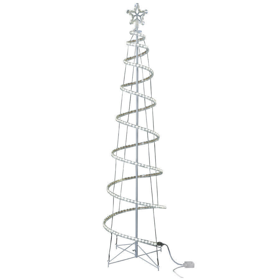 Does Lowes Sell Christmas Trees: White LED 7' Spiral Christmas Tree GE Yard Outdoor