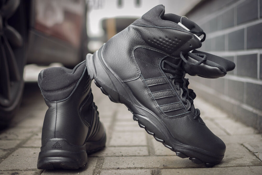 buy online 2a87d dc4fa ADIDAS GSG-9,7 TACTICAL G62307 MEN S BLACK LEATHER TREKKING HIKING WINTER  BOOTS   eBay