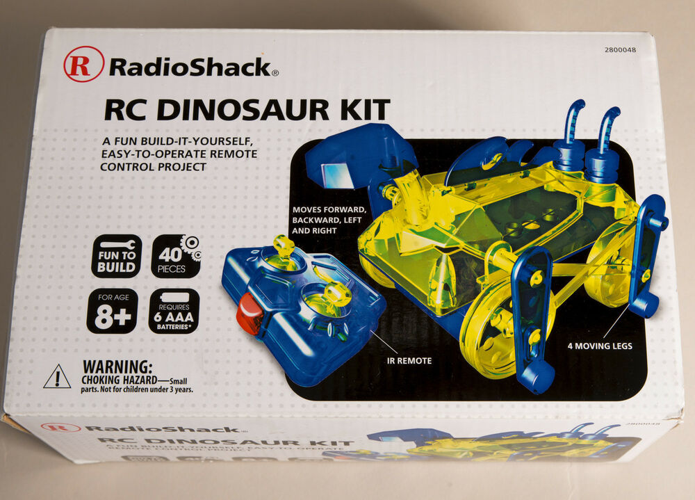 Radio shack rc dinosaur model kit build it yourself toy remote radio shack rc dinosaur model kit build it yourself toy remote control project ebay solutioingenieria Choice Image