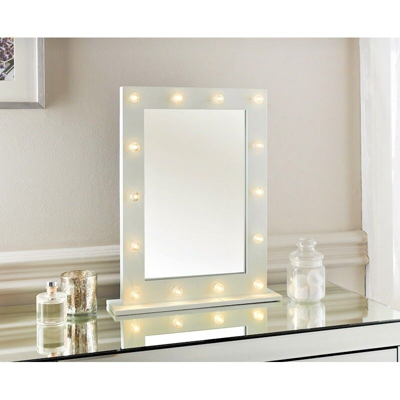 neuf miroir de courtoisie hollywood 14 ampoule led cadre blanc coiffeuse ebay. Black Bedroom Furniture Sets. Home Design Ideas