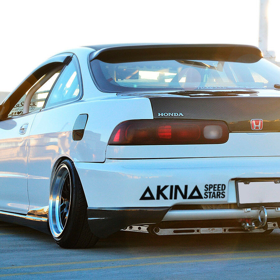 Details about 2x akina speed stars ae86 drift team initial d jdm anime racing sticker decal