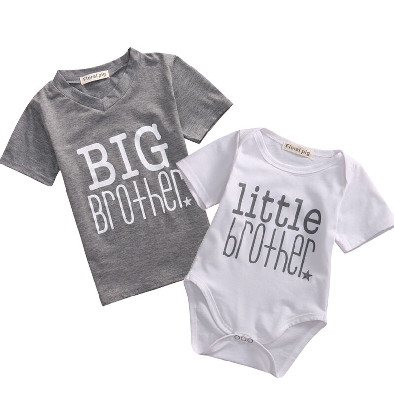 b5ff6c253 Newborn Baby Boy Romper Bodysuit   Big Brother Kids T-shirt Top ...